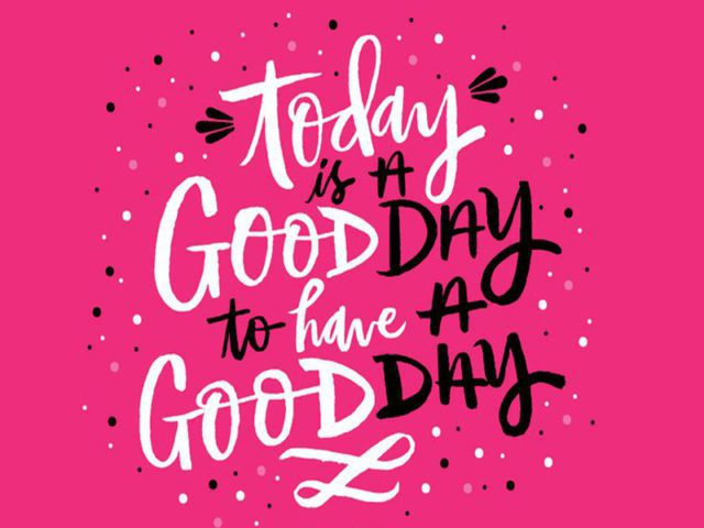 Good Day Hand Lettering Free Vector