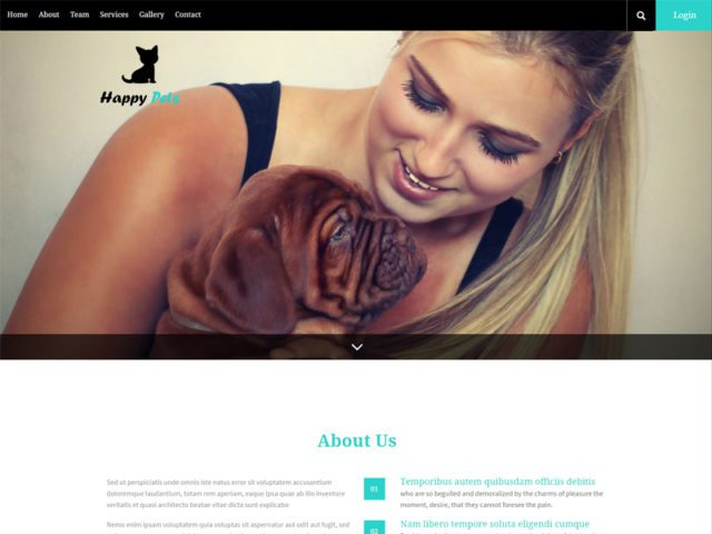 Happy Pets Free Responsive Animal Bootstrap Template