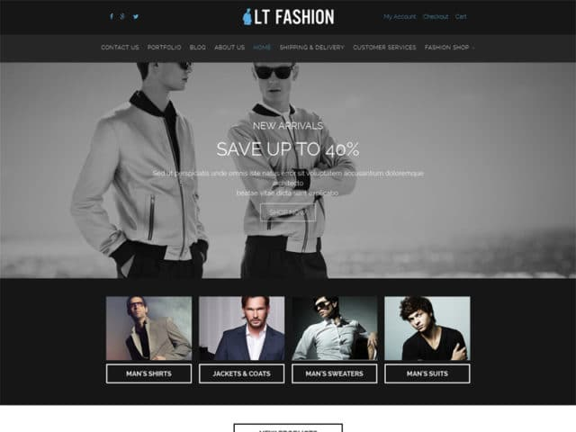 LT Fashion Free WordPress Theme For Fashion Store
