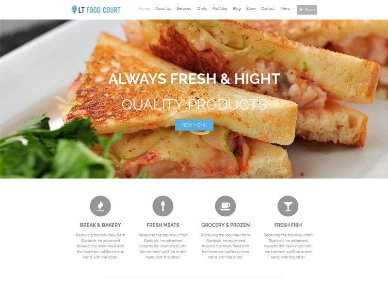 LT Food Court Free Responsive WordPress Food Theme