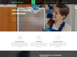 LT Inclean Onepage Free Single Cleaning Company Joomla Template