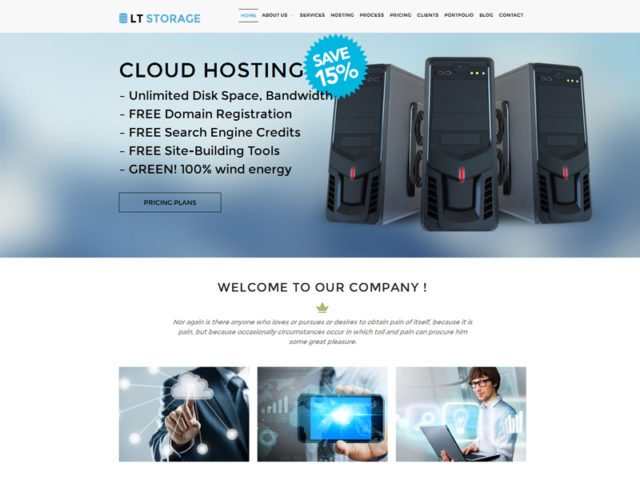 LT Storage Free Responsive Hosting WordPress Theme
