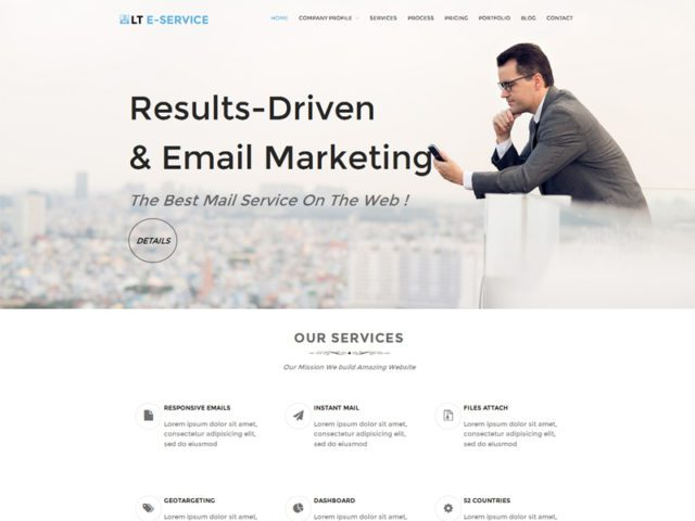 LT eService Free Responsive Business WordPress Theme