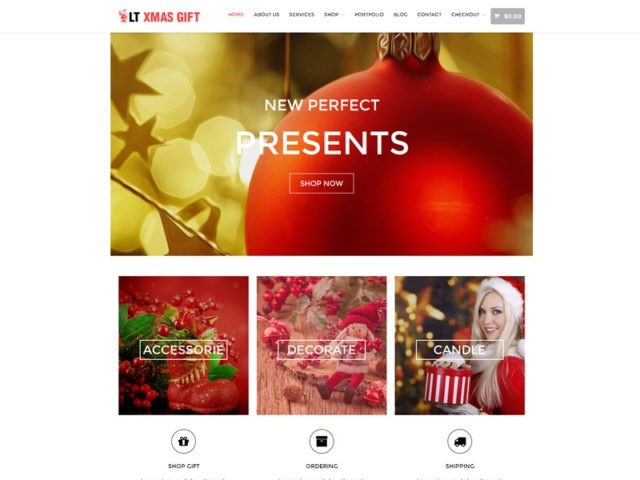 LT xMas Gift Free Responsive Christmas Shop WordPress Theme