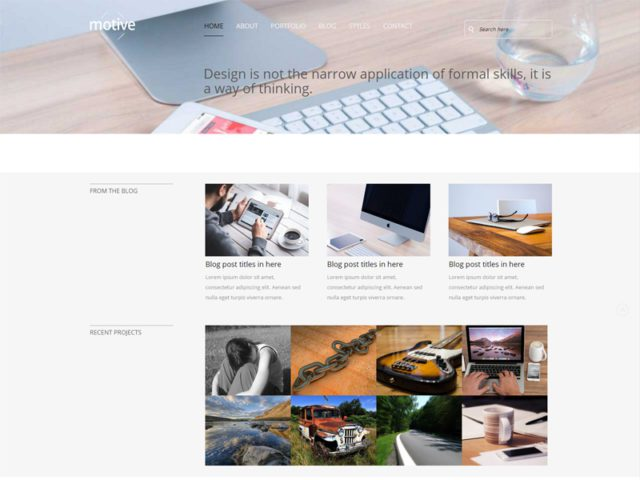 Motive V2 Free Bootstrap Template For Business
