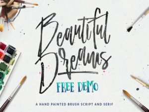 Beautiful Dreams Free Font Design