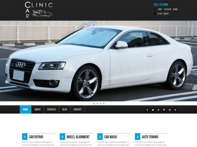 Car Clinic Free Responsive Bootstrap Car Template