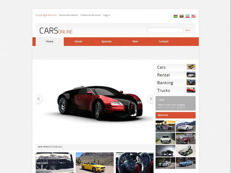Cars Online Free Responsive Bootstrap Car Template - Freemium Download