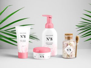Cosmetics Packaging PSD Free MockUp