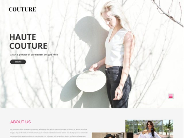 Couture Free Responsive Fashion Bootstrap Template