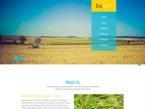 Eco Farm Free Responsive Bootstrap Agriculture Template