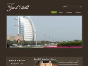 Grand Hotel Free Bootstrap Template For Restaurant