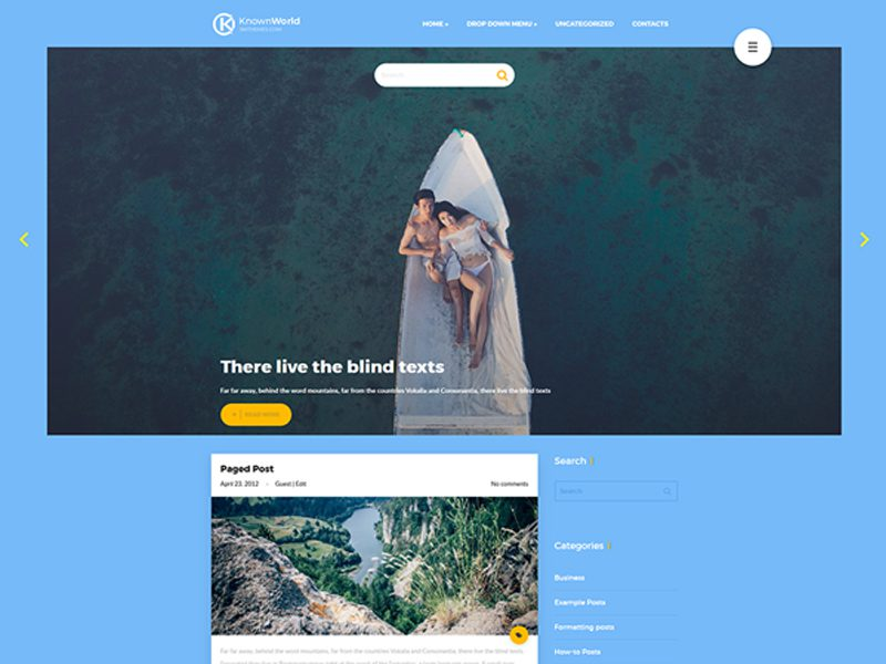 KnownWorld Free WordPress Theme For Travel