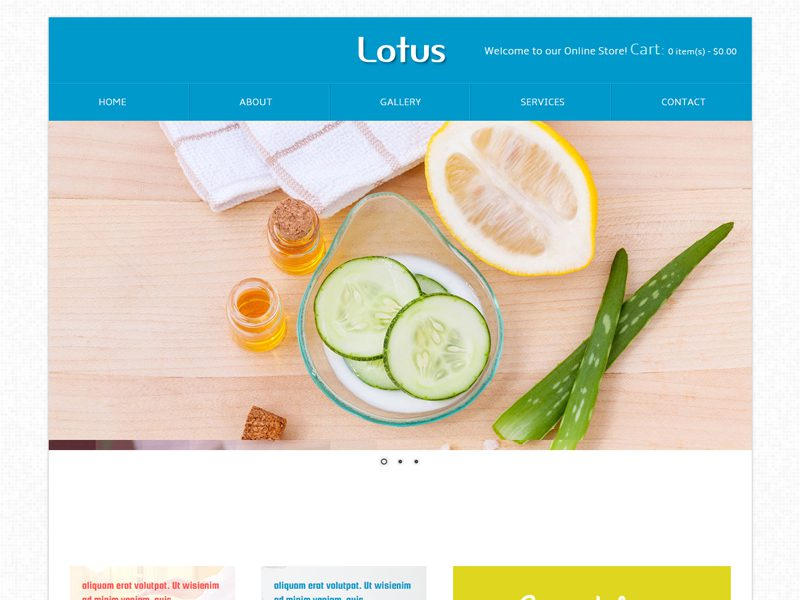 Lotus Free Bootstrap Template For Beauty