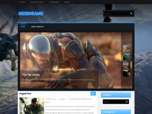 NeonGame Free WordPress Theme For Game