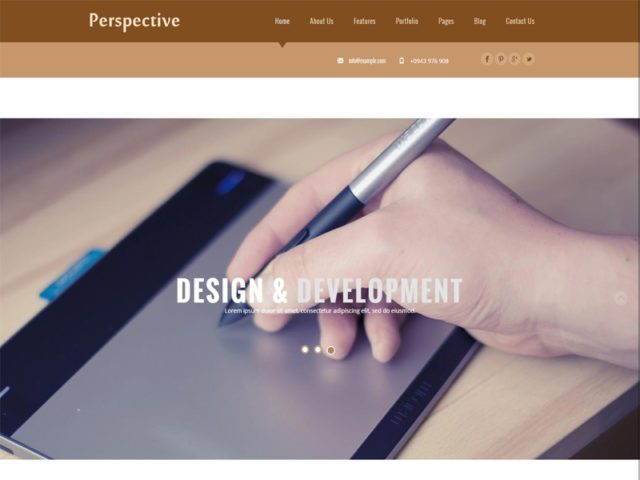 Perspective Free Responsive Corporate Business Bootstrap Template
