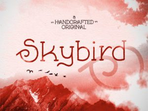Skybird Rough Free Font Design