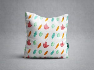 Square Pillow Free Design Mockup