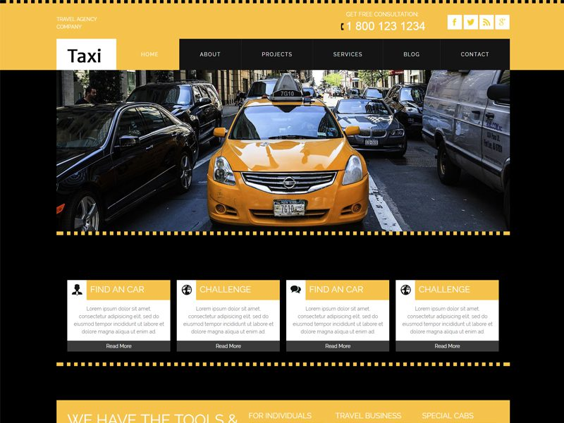 taxi free responsive car bootstrap template freemium download