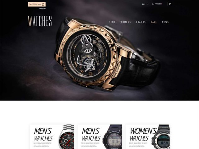 Watches Free Responsive Bootstrap eCommerce Template
