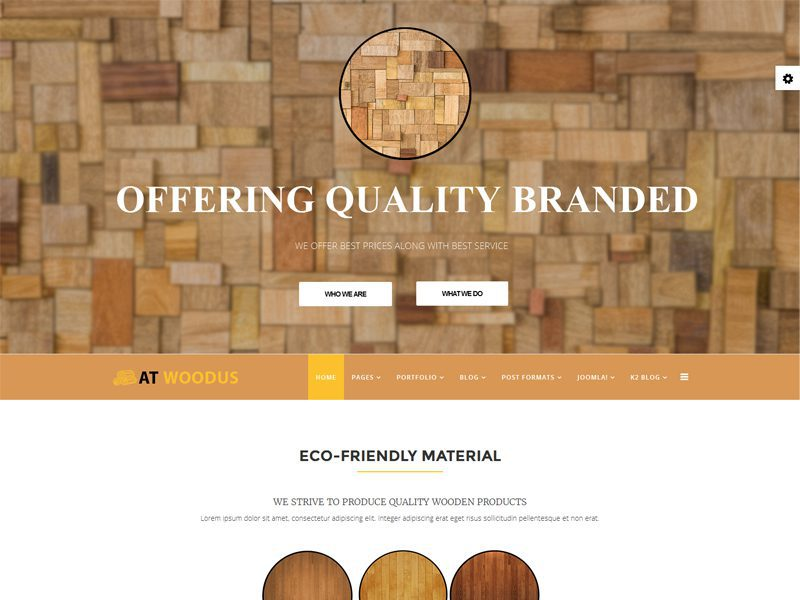 AT Woodus Free Responsive Wooden Industrial Joomla Template