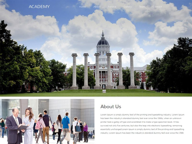 Academy Free Responsive Education Bootstrap Template