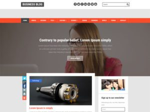 Business Blog Free Responsive Blog Bootstrap Template