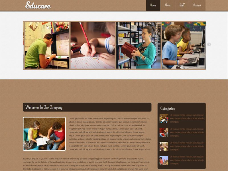 Educare Free Responsive Education Bootstrap Template