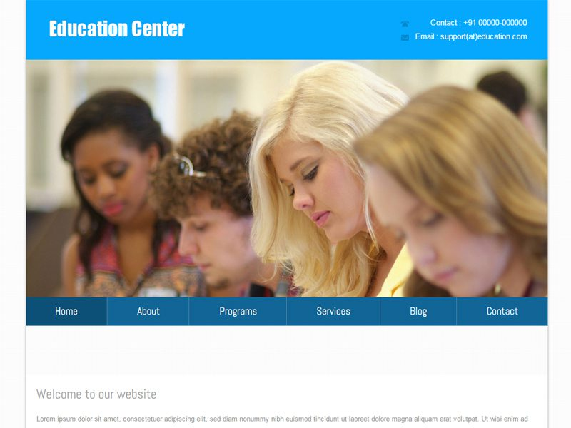 Education Center Free Responsive School Bootstrap Template