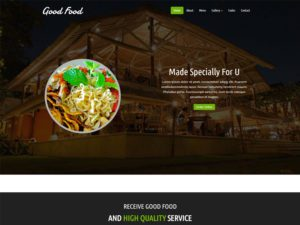 Good Food Free Responsive Restaurant Bootstrap Template