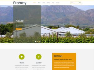 Greenery Free Responsive Agricultural Bootstrap Template