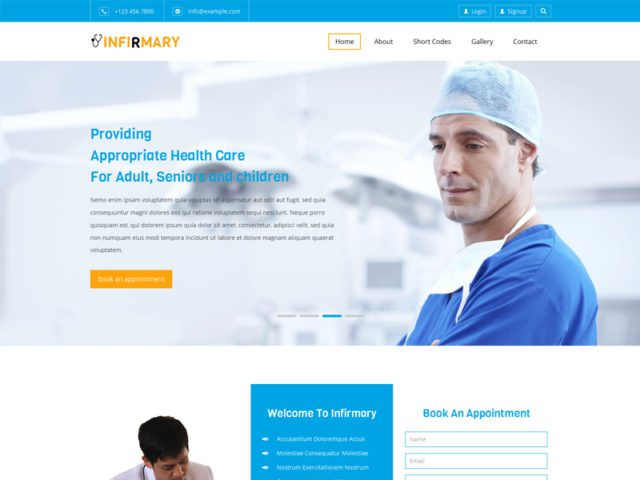 Infirmary Free Responsive Bootstrap Medical Template