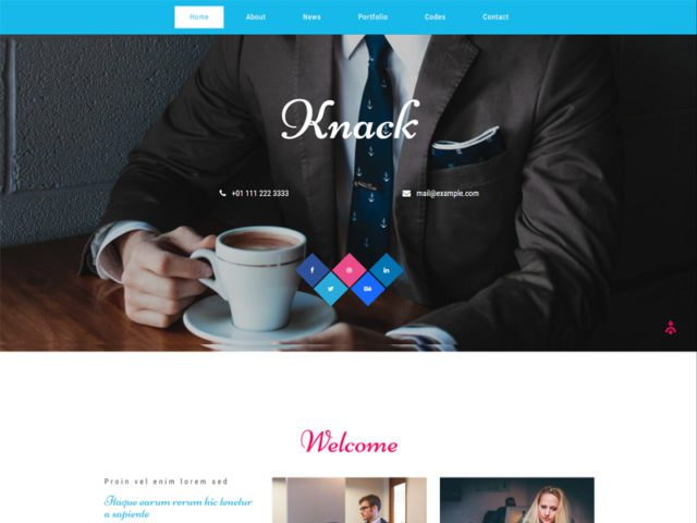 Knack Free Responsive Bootstrap Business Template