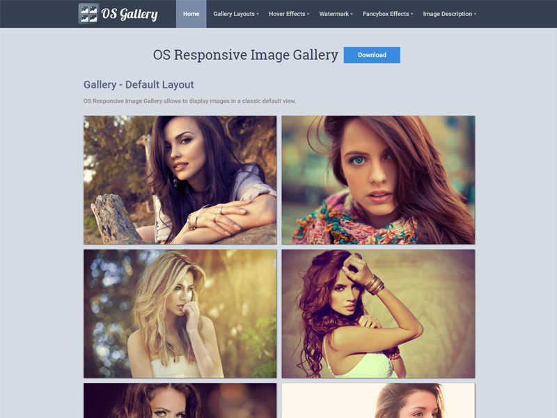 OS Gallery Free Responsive Photography Joomla Template