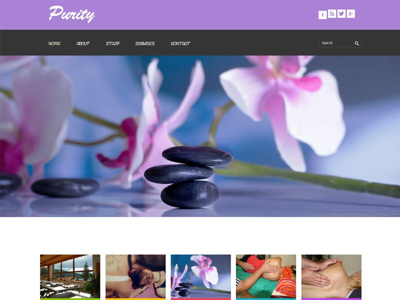 Purity Free Responsive Beauty Bootstrap Template
