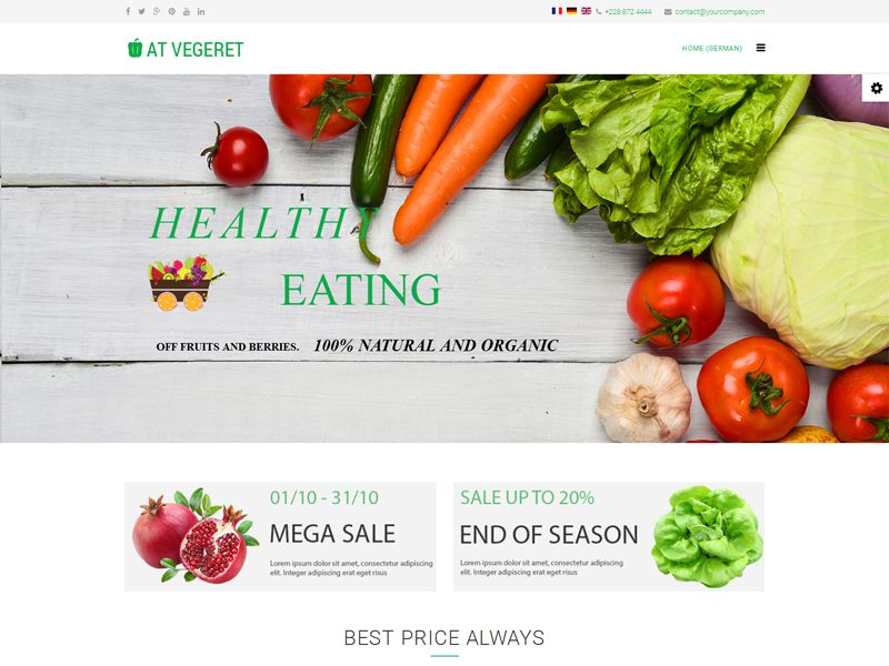 at vegeret free responsive vegetables store joomla template