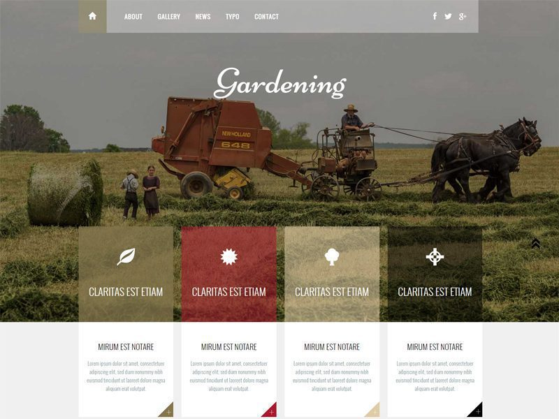 Free Agriculture Bootstrap Template