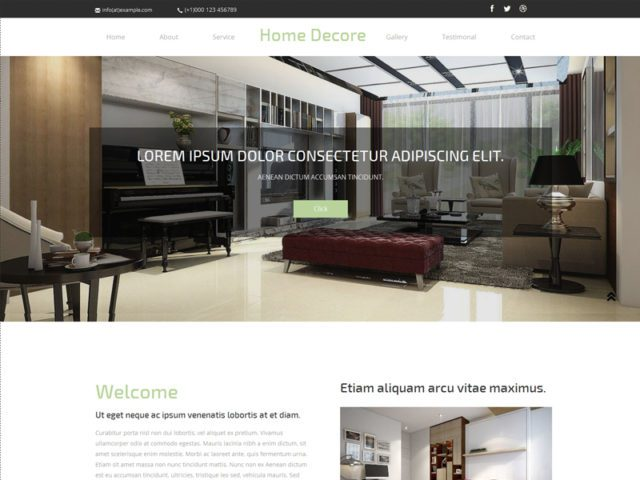 Free Interior Bootstrap Template