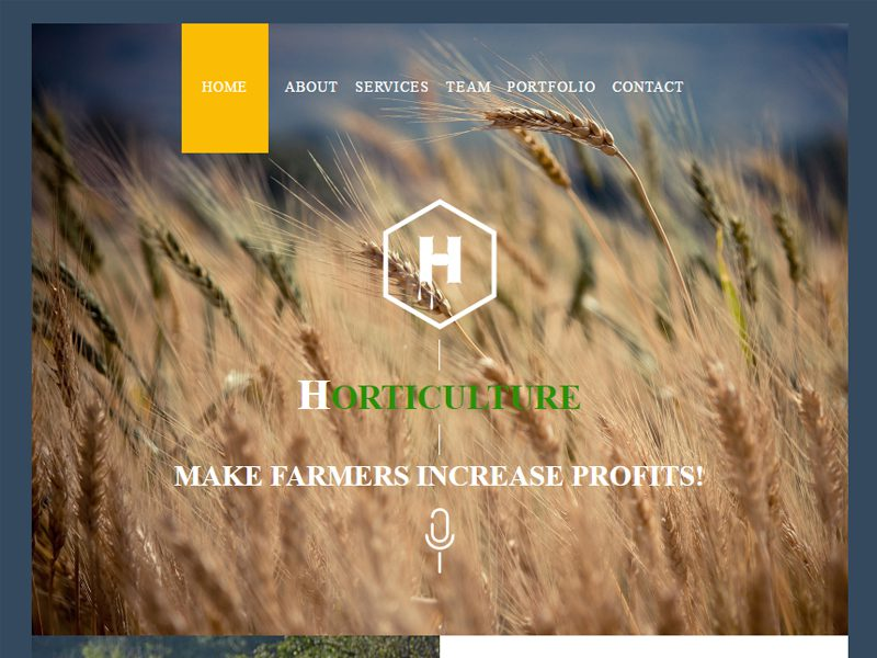 Horticulture Free Bootstrap Template For Agriculture