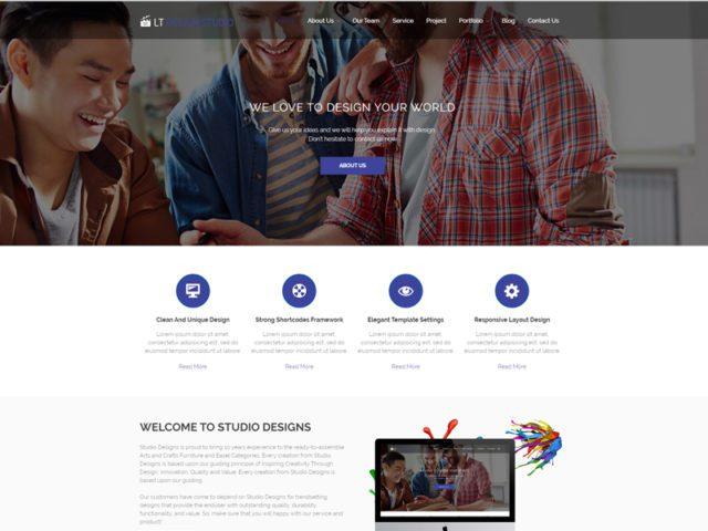 Free Design Studio WordPress Theme