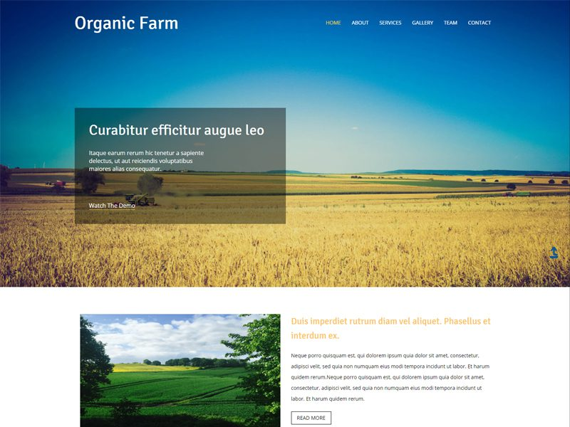 Free Agriculture Website Template