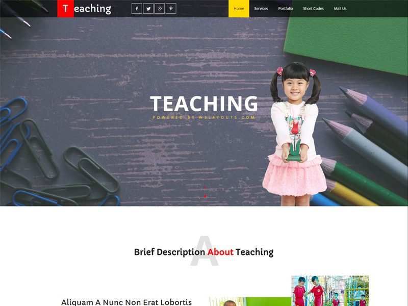 Free Education Bootstrap Template