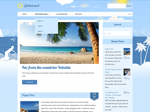 Free Travel WordPress Theme