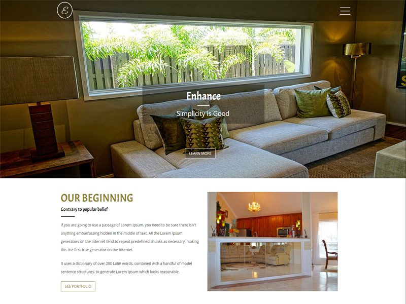 Free Responsive Interior Bootstrap Template
