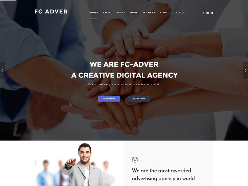 Free Bootstrap Advertising Company Template
