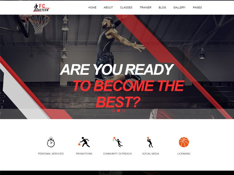 Free Basketball Website Template