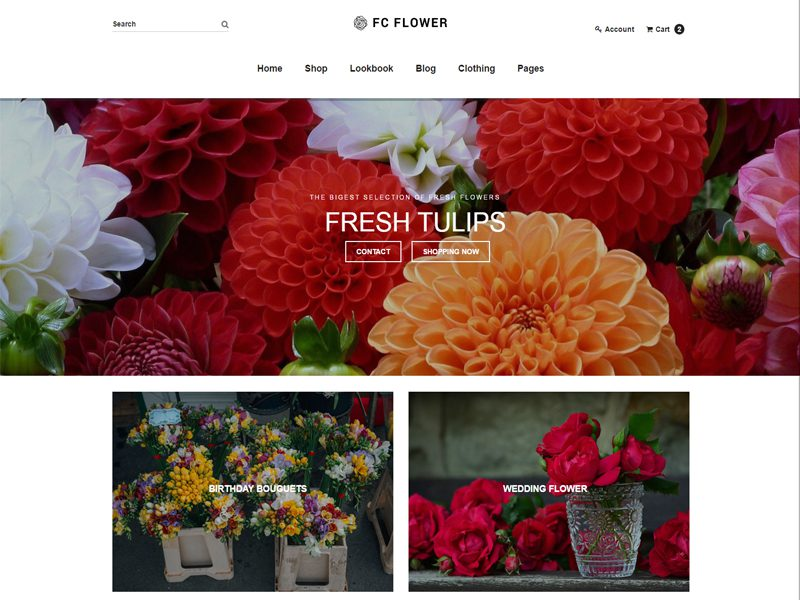 Free Flower Shop Website Template