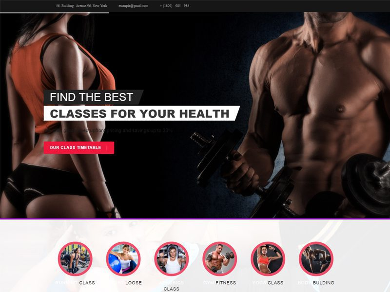Bootstrap Health Template