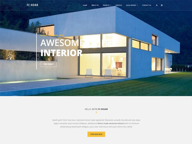 Fc hoar free architecture website template freemium download for Architecture design websites free
