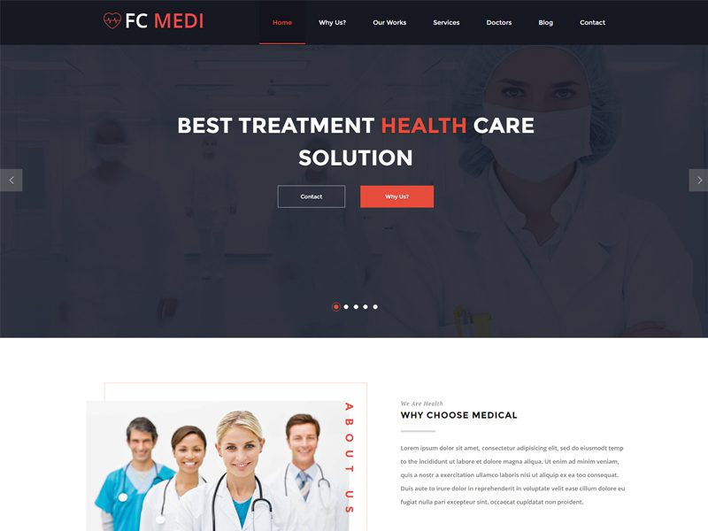 Bootstrap Hospital Template